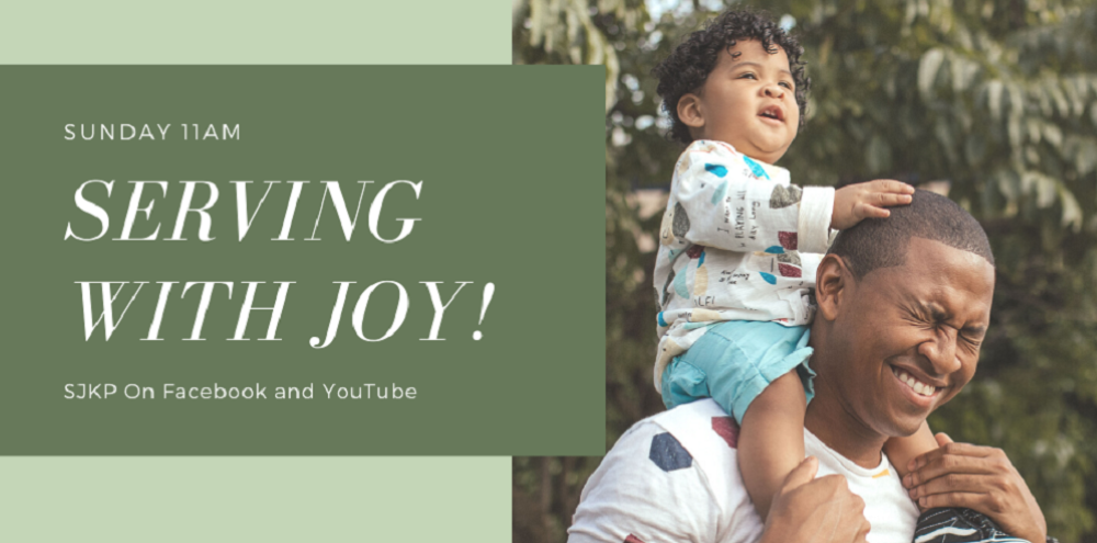 Serving with joy!